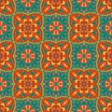 Vector naadloze textuur Mooi gekleurd patroon voor ontwerp en manier met decoratieve elementen Royalty-vrije Stock Foto