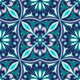 Vector naadloze textuur Mooi gekleurd patroon voor ontwerp en manier met decoratieve elementen Stock Afbeelding