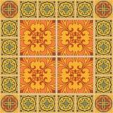 Vector naadloze textuur Mooi gekleurd patroon voor ontwerp en manier met decoratieve elementen royalty-vrije illustratie