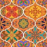Vector naadloze textuur Mooi lapwerkpatroon voor ontwerp en manier met decoratieve elementen vector illustratie