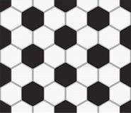 Vector naadloze textuur op een voetbalthema, het patroonachtergrond van het voetbalthema stock illustratie