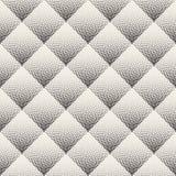 Vector Naadloze Zwart-witte het Stippelen Ruitgradiënt Halftone Dot Work Pattern stock illustratie