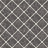 Vector Naadloze Zwart-witte Rond gemaakte Ruitbestrating Fillesd met Maze Lines Pattern stock illustratie