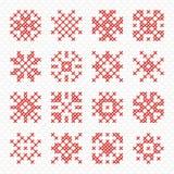 Vector naaiende hulpmiddelen in de vorm van een cirkel Stock Foto's