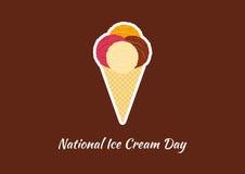 Vector nacional del día del helado Foto de archivo