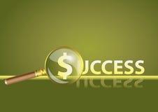 Vector Nadruk als achtergrond op succes Stock Foto's