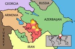 Vector Nagorno Karabakh Republic map Royalty Free Stock Photo