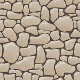 Vector nahtlose Beschaffenheit von Steinen in den braunen Farben Lizenzfreie Stockfotos