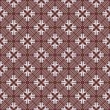 Vector nahtlose farbige organische Dreieck-mit Blumenlinien sechseckiges geometrisches Muster stock abbildung