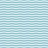 Vector nahtlose Meereswellen auf einem hellblauen Hintergrund, der für den Druck auf einer Vielzahl von Oberflächen und von Texti Stockbilder