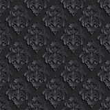 Vector nahtlosen Musterhintergrund des Damastes Elegant Stockfotografie