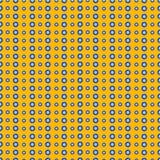 Vector nahtloses abstraktes Muster mit Elementen von blauen Blumen Lizenzfreie Stockfotografie