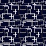 Vector nahtloses abstraktes Muster mit Elementen von Monitoren Lizenzfreies Stockbild