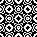 Vector nahtloses Achteck- und Rautenschwarzweiss-muster, einfaches abstraktes Design lizenzfreie abbildung
