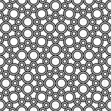 Vector nahtloses Geometriemuster des Hippies, Schwarzweiss-Zusammenfassung Stockfoto