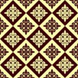 Vector nahtloses geometrisches Muster in der ethnischen nationalen Art von Kasachstan, Asien vektor abbildung