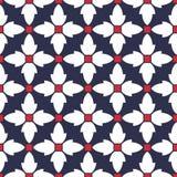 Vector nahtloses modisches Muster mit geometrischen stilisierten Blumen, romantische einfache klassische Beschaffenheit für Tapet stock abbildung