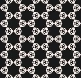 Vector nahtloses Muster, abstrakte geometrische Blumenmosaikbeschaffenheit stock abbildung