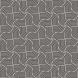 Vector nahtloses Muster abstrakter Hintergrund Wiederholen des abstrakten Hintergrundes Einfarbige geometrische gerundete Linien lizenzfreie stockfotografie