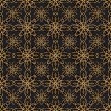Vector nahtloses Muster abstrakter Hintergrund Wiederholen des geometrischen Hintergrundes Schwarz- und Goldfarben Stockbild