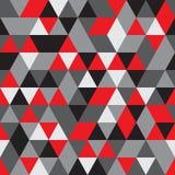 Vector nahtloses Muster abstrakter Hintergrund Wiederholen des geometrischen Hintergrundes Schwarze, graue und rote Farben Lizenzfreie Stockfotografie
