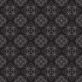 Vector nahtloses Muster abstrakter Hintergrund Wiederholen des geometrischen Hintergrundes Schwarzweiss-Farben Stockfotos
