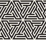 Vector nahtloses Muster abstrakter Hintergrund Wiederholen des geometrischen Tiling von gestreiftem Dreieck elementsr stock abbildung