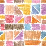 Vector nahtloses Muster Bleistiftanschläge Lizenzfreie Stockfotografie