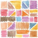 Vector nahtloses Muster Bleistiftanschläge Lizenzfreies Stockbild