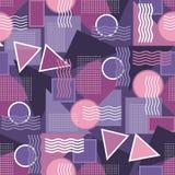 Vector nahtloses Muster in der modernen Art in der ultravioletten Farbe Lizenzfreie Stockbilder