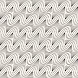 Vector nahtloses Muster Geometrische gestreifte Verzierung Dünne Linien Hintergrund der optischen Täuschung stockfoto