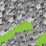 Vector nahtloses Muster - Häuser und Immobilien stock abbildung