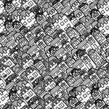 Vector nahtloses Muster - Häuser und Immobilien lizenzfreie abbildung
