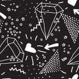 Vector nahtloses Muster im Pointillismus, Memphis, 80s, Art 90s Stockfotografie