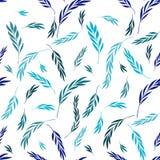 Vector nahtloses Muster Leichtes natürliches stilvolles mit Blumenbackgroun Stockfotos