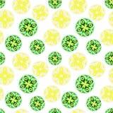 Vector nahtloses Muster mit dem Bild der Mandala Lizenzfreies Stockfoto