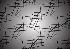 Vector nahtloses Muster mit dem Verweben von dünnen Linien vektor abbildung