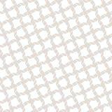 Vector nahtloses Muster mit diagonalem Gitter, Fadenkreuz, Seile Weiß und Beige lizenzfreie abbildung
