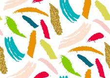 Vector nahtloses Muster mit Hand gezeichneten Texturbürstenanschlägen, die handgemalten Streifen Lizenzfreies Stockbild