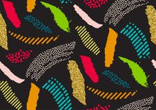 Vector nahtloses Muster mit Hand gezeichneten Texturbürstenanschlägen, die handgemalten Streifen Stockfoto