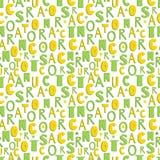 Vector nahtloses Muster mit handgeschriebenem Alphabet, Buchstaben sind eckig Stockfotografie