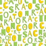 Vector nahtloses Muster mit handgeschriebenem Alphabet, Buchstaben sind eckig stock abbildung