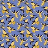 Vector nahtloses Muster mit Vögeln in der flachen Art Stockfotos