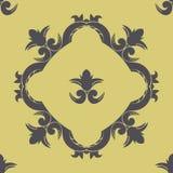 Vector nahtloses Muster mit Victorianrahmen und aufwändigen Elementen Stockfotos