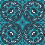 Vector nahtloses Muster mit würdevoller Spitze lineart Verzierung Stockfotos