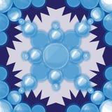 Vector nahtloses Muster Moderne Beschaffenheit Wiederholen des abstrakten Hintergrundes mit Kreisen Lizenzfreie Stockfotos