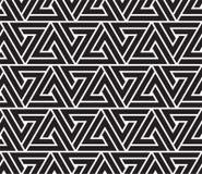 Vector nahtloses Muster Moderne stilvolle abstrakte Beschaffenheit Wiederholen des geometrischen Tiling von gestreiften Elementen Stockfotografie