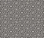 Vector nahtloses Muster Moderne stilvolle abstrakte Beschaffenheit Wiederholen des geometrischen Tiling von gestreiften Elementen Lizenzfreie Stockfotos