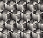 Vector nahtloses Muster Moderne stilvolle abstrakte Beschaffenheit Wiederholen von geometrischen Fliesen stockfotos