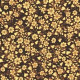 Vector nahtloses Muster Nettes Muster in der kleinen Blume und in den Herzen Abstrakte Abbildung Blumenhintergrund Ditsy Das eleg Lizenzfreie Stockfotos